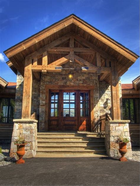 beam x front of house post and beam front entry houzz