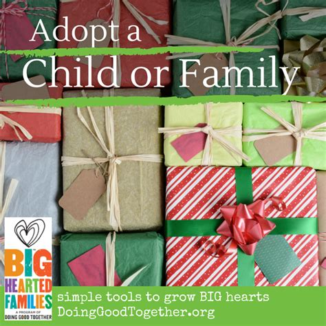 sponsor a child for christmas gift adopt a child or family for the holidays doing together