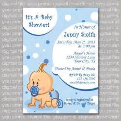 baby boy baby shower invitation card custom digital file you print digitalbazaar cards on