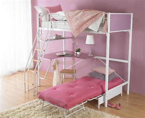 full size loft bed with desk and storage masata design