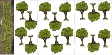 How To Make Model Trees From Paper - simple trees paper models for dioramas rpg and wargames
