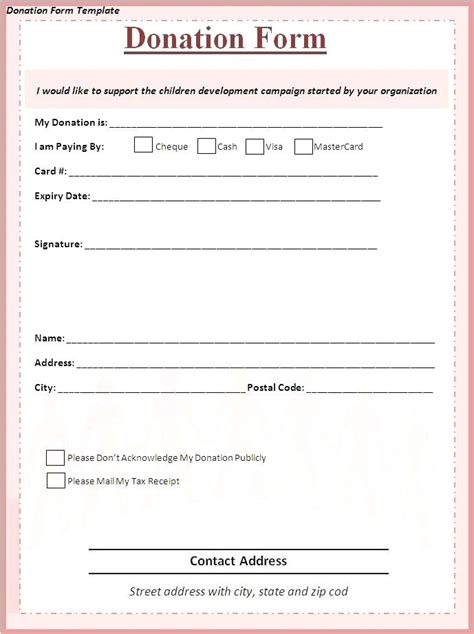 church receipt template donation invoice church donation receipt template