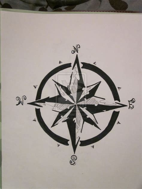 compass tattoos and designs page 55