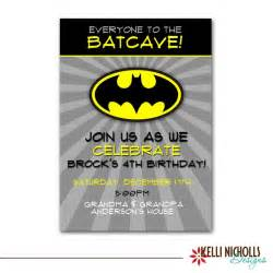 batman birthday invitation custom printable boy invite b105