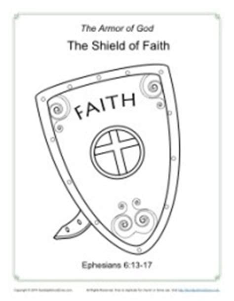 shield of faith coloring page armor of god for kids