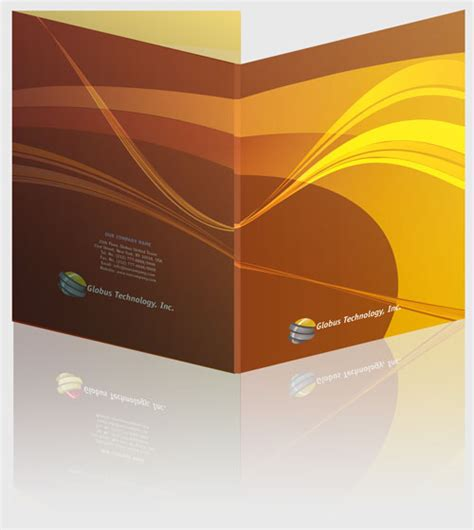 presentation folder templates indesign templates for presentation corporate folders