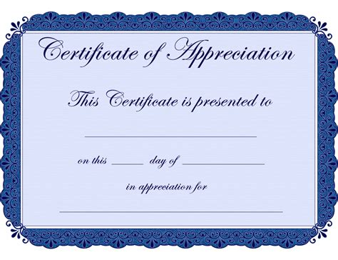 certificate design pinterest free printable certificates certificate of appreciation