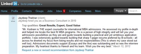 Mba Consulting Reviews by Mba Admission Consulting Service Reviews Student
