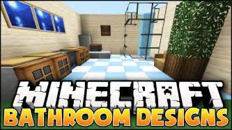 Minecraft Bathroom Designs minecraft bathroom designs amp ideas youtube