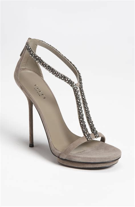 gucci shoes gucci sandal in gray beige lyst