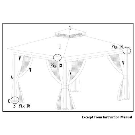 Wilson & Fisher 10 x 12 Monterey Gazebo Replacement Canopy