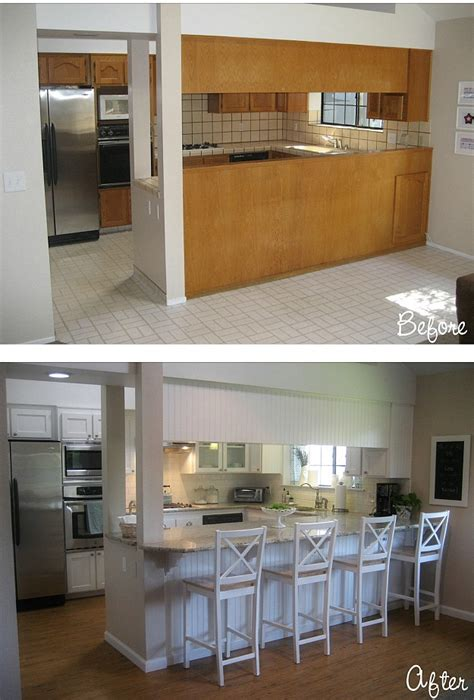 before after carolyn s quot yucky quot 1980s kitchen hooked
