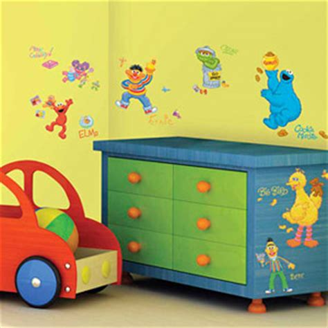 Sesame Street Peel Stick Appliques Wall Decals Sesame Nursery Decor