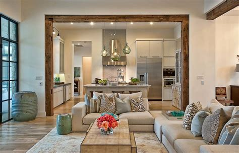 i home interiors suburban house with exposed interior wood beams
