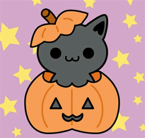 imagenes kawai de animales kitty in pumpkin dibujos pinterest kawaii gato y dibujo
