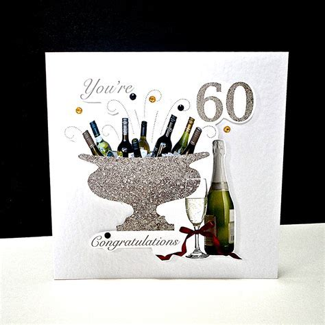 Celebration Bottles 60th Birthday Card   Decorque Cards