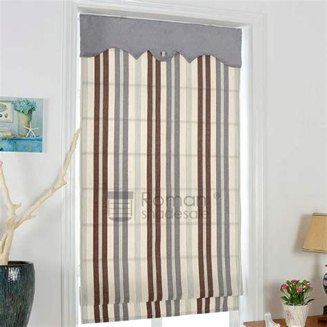 patterned fabric roman shades elegant striped pattern flat shaped custom fabric roman shades