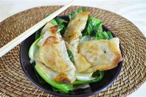 Dumpling Plate chicken dumplings with bok choy you plate it