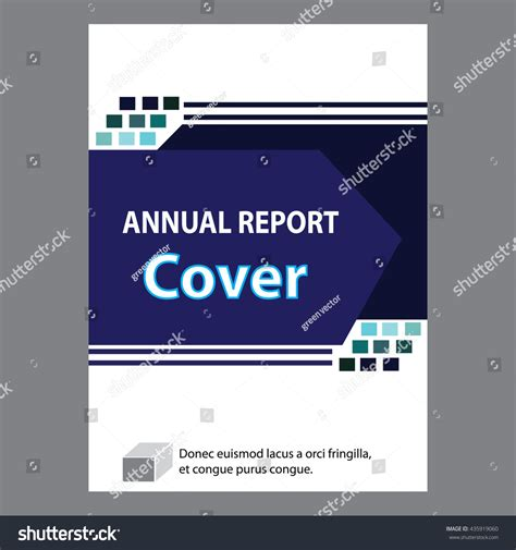 information technology annual report template blue annual report title page sle stock vector 435919060