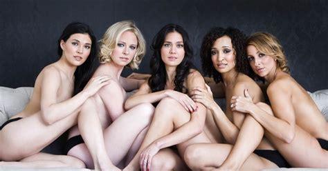 friends bond  posing   underwear