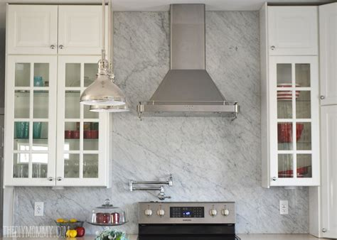 Carrara Marble Kitchen Backsplash A Marble Panel Backsplash For Our Diy Kitchen The Diy