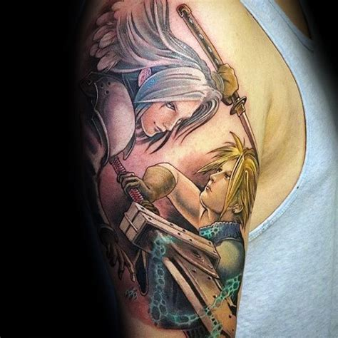 80 final fantasy tattoos for men video game design ideas