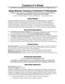 Resume Template For It by It Resume Sle