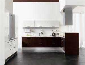 brown and white modern kitchen smart home kitchen