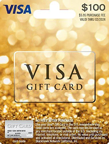 Visa Gift Cards With No Service Fee - 100 visa gift card plus 5 95 purchase fee arts entertainment party celebration