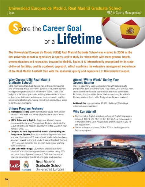 Ucr Mba Sports Management by Ucr Postgraduate Diploma In Sports Management