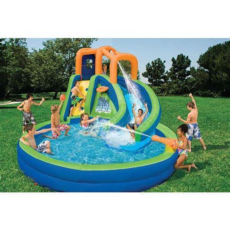 Backyard Pools Toys R Us Banzai Big Curve Plunge Water Slide