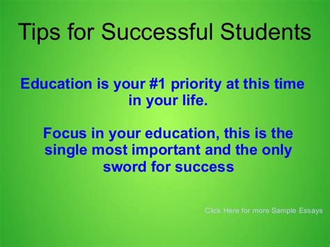 8 Tips On Succeeding In This World by Tips For Successful Students