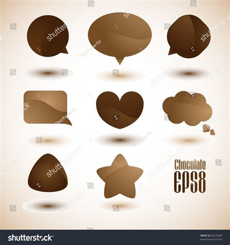 Dialog With Coffee chocolate and coffee dialog bubbles vector 60226009