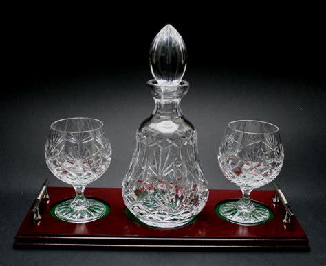 Glass Bowls And Vases Brandy Decanter Set Leitrim Crystal