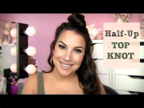 tutorial top up ilegal half up top knot a k a fun bun tutorial youtube