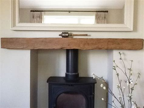 Wooden Lintel Fireplace by A Reclaimed Oak Beam Fireplace Lintel Housing A Wood Burning Stove House