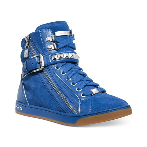 mk sneakers michael kors michael glam studded high top sneakers in