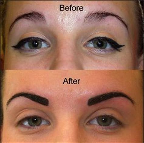how to lighten eyebrow tattoo dark brown hairs