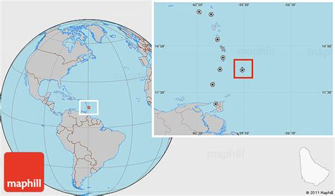 where is barbados on world map flag location map of barbados gray outside