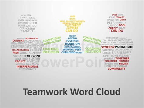 word cloud in powerpoint teamwork word cloud editable powerpoint presentation