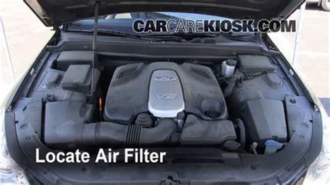 2009 Hyundai Accent Fuel Air Filter Engine Air Filter by Air Filter How To 2009 2014 Hyundai Genesis 2009