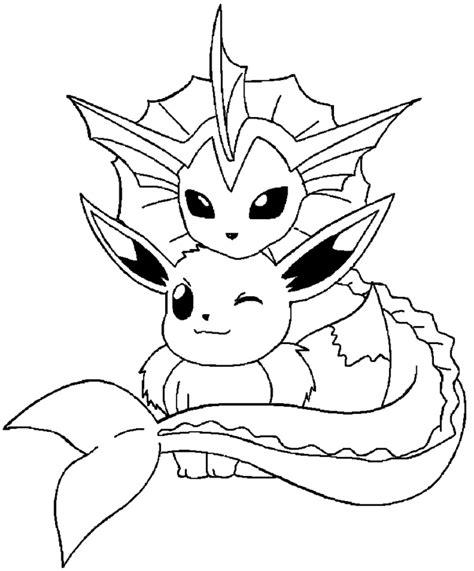 Pokemon Vaporeon Coloring Pages Printable Vaporeon