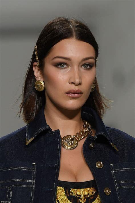 bella hadid bella hadid at versace s s 2018 celebzz