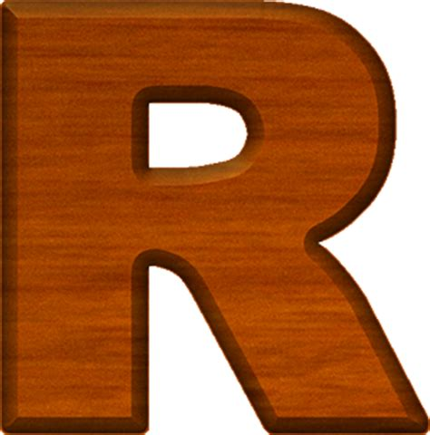 Letter By R Presentation Alphabets Cherry Wood Letter R