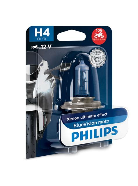 Lu Philips Blue Vision Moto bluevision moto motorcycle headlights 12342bvubw philips