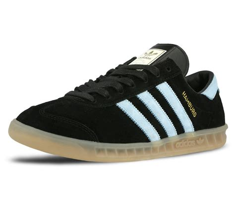 mens adidas hamburg black blue suede retro boys shoes trainers size 3 12 uk ebay
