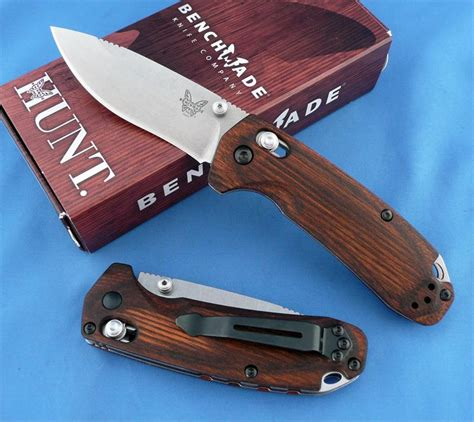 Serrated Kitchen Knives by Benchmade Hunt 15031 2 North Fork Axis Knife Dymondwood Handle