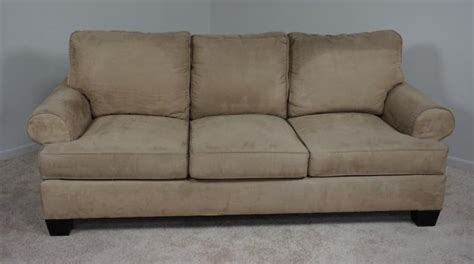 ultra suede sofa contemporary ultra suede henrendon sofa