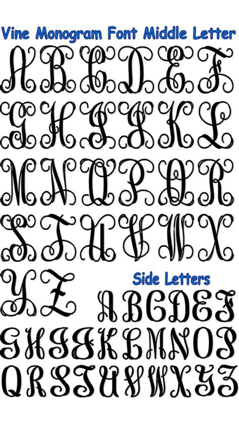 monogram letters template monogrammed letters sewing