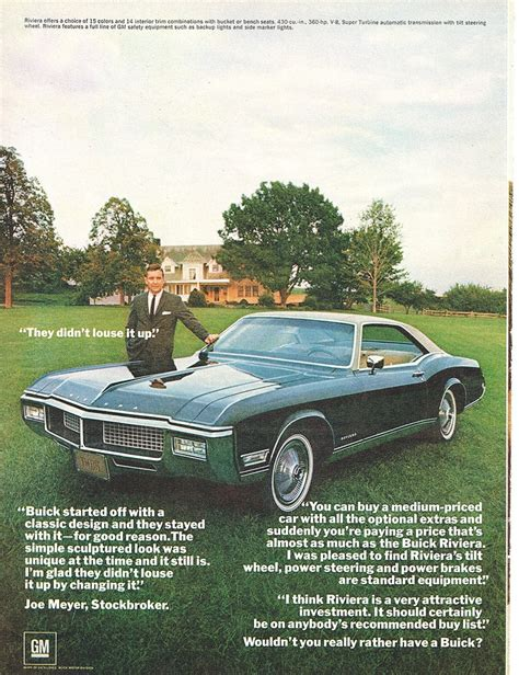 1968 buick riviera vintage ad cars buick
